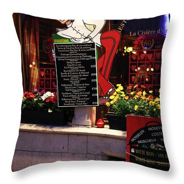 Suggestions Throw Pillow by John Rizzuto