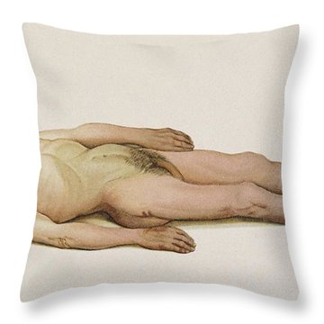 Suicide By Hanging, 1898 Throw Pillow by Science Source