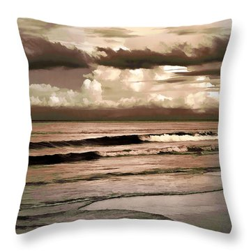 Summer Afternoon At The Beach Throw Pillow by Steven Sparks