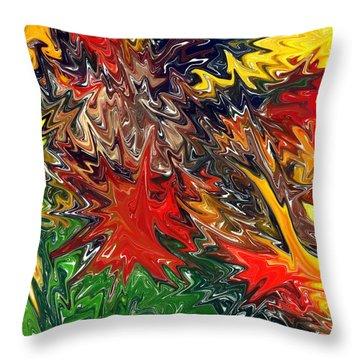 Summer Autumn Throw Pillow by Chris Butler