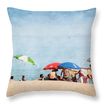 Summer By The Sea Throw Pillow by Mary Machare