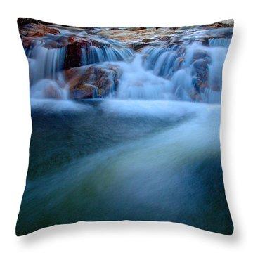Summer Cascade Throw Pillow