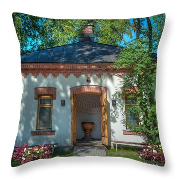 Summer Chapel Throw Pillow by Ari Salmela