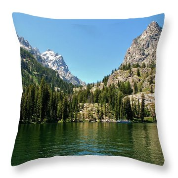 Summer Day At Jenny Lake Throw Pillow