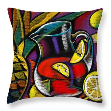 Summer Drink Throw Pillow by Leon Zernitsky