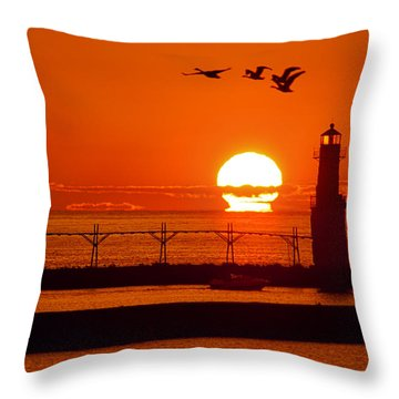 Summer Escape Throw Pillow