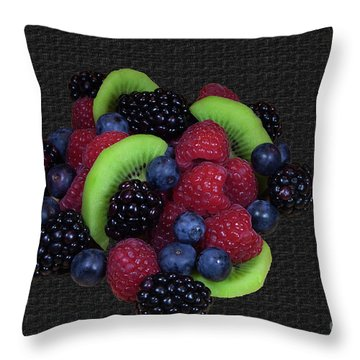 Summer Fruit Medley Throw Pillow by Michael Waters