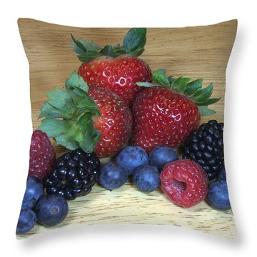 Summer Fruit Throw Pillow by Michael Waters