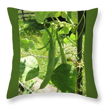 Summer Green Beans Throw Pillow