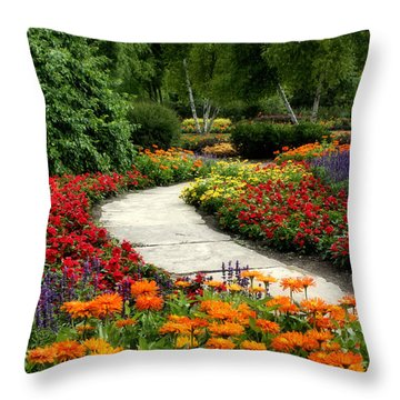 Summer In Cantigny 1 Throw Pillow by Ely Arsha
