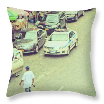 Summer In Harlem Throw Pillow by Karol Livote