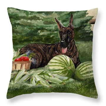 Throw Pillow featuring the painting Summer by Nancy Patterson