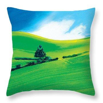 Summer Throw Pillow by Neil McBride