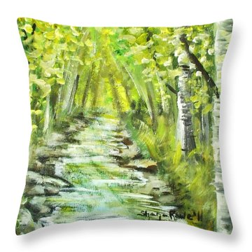 Throw Pillow featuring the painting Summer by Shana Rowe Jackson