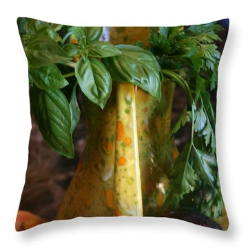 Summer's Bounty Throw Pillow by Kay Novy