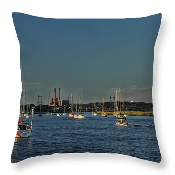 Summers Canal Throw Pillow by Karol Livote