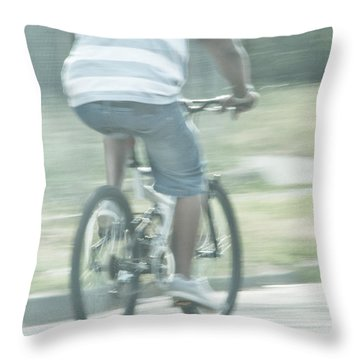 Summers Ride Throw Pillow by Karol Livote