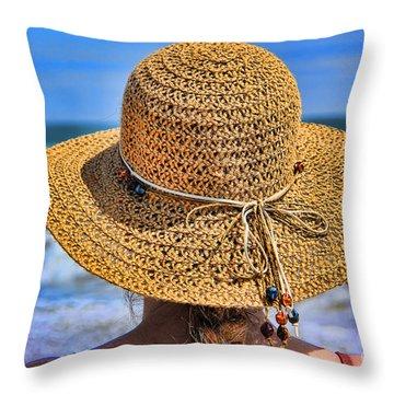 Summertime Throw Pillow by Mariola Bitner