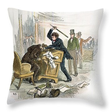 Sumner And Brooks, 1856 Throw Pillow by Granger
