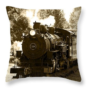 Sumpter Rr Engine 19 Throw Pillow by Nick Kloepping