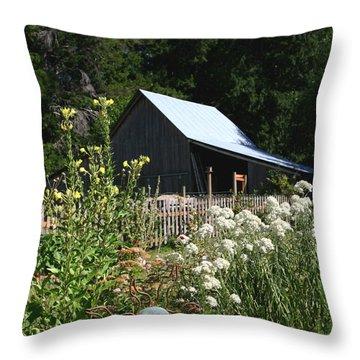 Throw Pillow featuring the photograph Sun Barn by Lorraine Devon Wilke