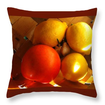 Sun Basket Throw Pillow