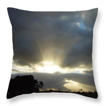 Sun Beams Throw Pillow by Paul Van Scott