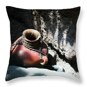 Sun Dappled Pottery Throw Pillow by Jeff Swan