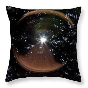 Throw Pillow featuring the photograph Sun Flair by Maj Seda