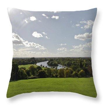 Throw Pillow featuring the photograph Sun Glare by Maj Seda