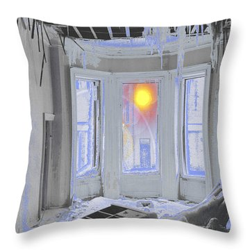 Global Freezing Throw Pillow by Tom Wurl