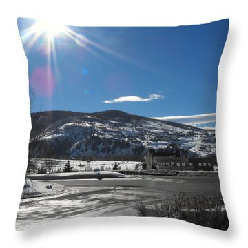 Sun On Ice Throw Pillow by Adam Cornelison
