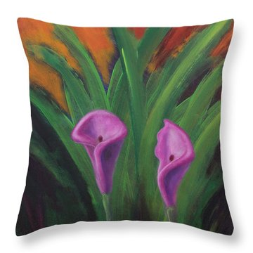Sun Splashes Callas Throw Pillow