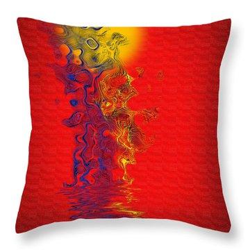 Throw Pillow featuring the digital art Sundance by Vicki Pelham