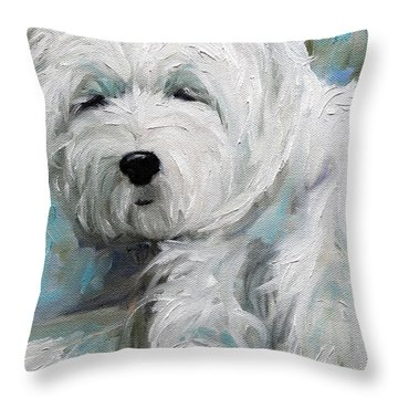 Sunday Afternoon Throw Pillow by Mary Sparrow