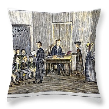 Sunday School, 1832 Throw Pillow by Granger