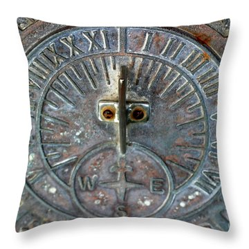 Sundial Throw Pillow by Henrik Lehnerer