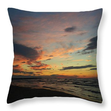 Throw Pillow featuring the photograph Sundown  by Barbara McMahon