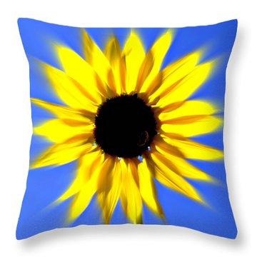 Sunflower Burst Throw Pillow by Marty Koch