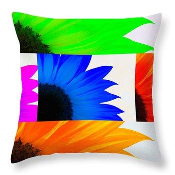 Sunflower Interrupted Throw Pillow