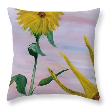 Sunflower Throw Pillow by Mark Moore