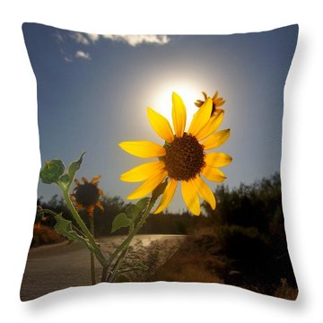 Sunflower Throw Pillow by Mistys DesertSerenity