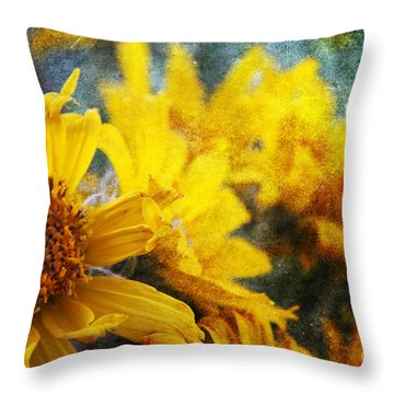 Sunflowers Throw Pillow by Alyce Taylor