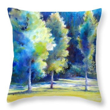 Sunlit Trees Throw Pillow
