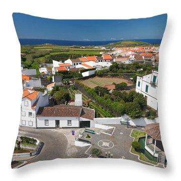 Sunny Day At Ribeirinha Throw Pillow by Gaspar Avila