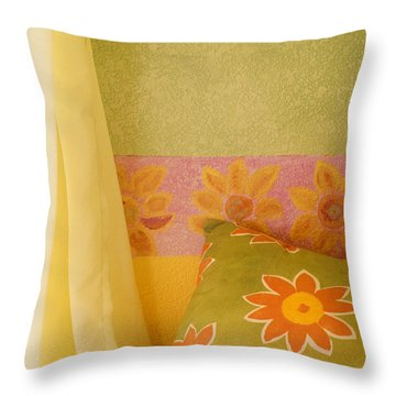 Sunny Morning Throw Pillow by Jerry McElroy