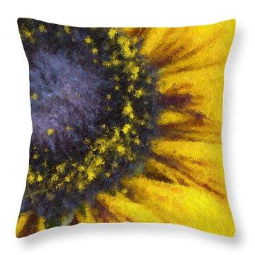 Sunny Yellow Throw Pillow by Heidi Smith