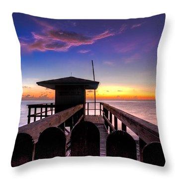 Sunrise Angel Throw Pillow by Debra and Dave Vanderlaan