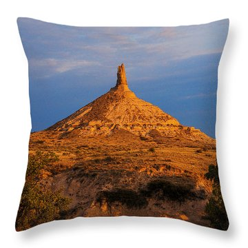 Sunrise At Chimney Rock Throw Pillow