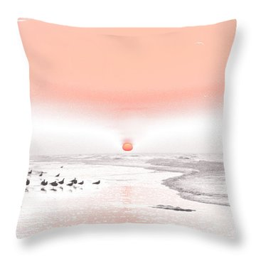 Throw Pillow featuring the photograph Pastel Sunrise Beach by Tom Wurl